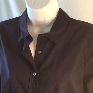 J. Crew Stretch Perfect Navy Shirt Size Medium